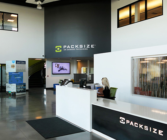 Photo of Packsize headquarters lobby